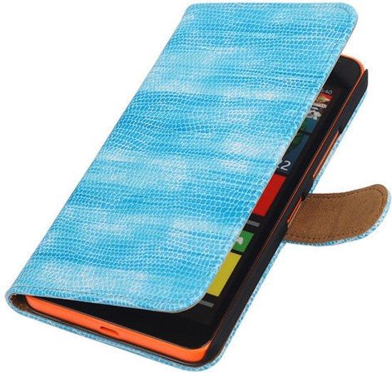 Blauw glamour booktype Microsoft Lumia 640 XL case hoesje in Kleindorp