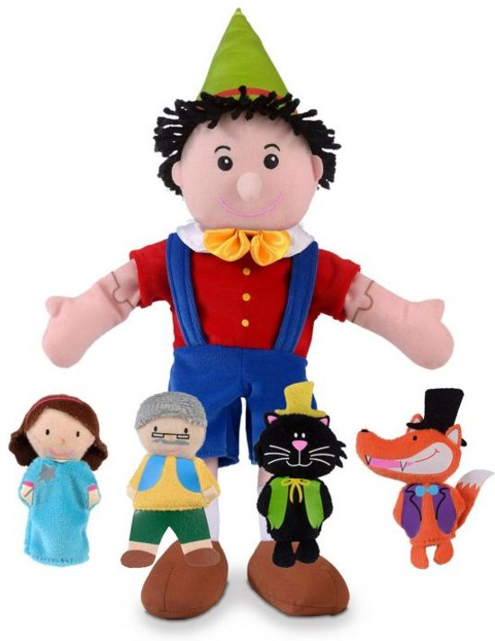 Fiesta Crafts Pinocchio Hand and Finger Puppet Set
