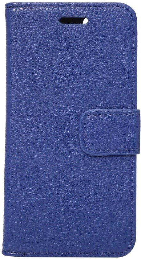 Shop4 - iPhone 7 Hoesje - Wallet Case Lychee Blauw in \'s Gravenwezel