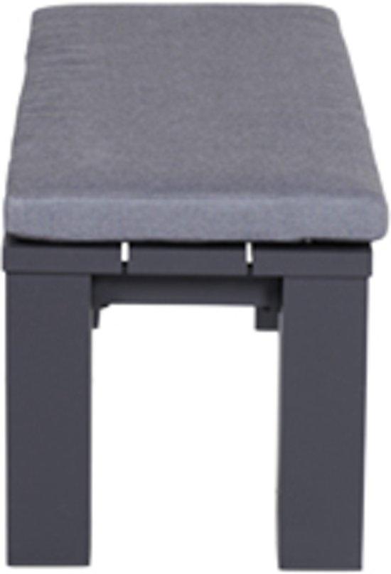 Garden Impressions Cube bank 115,5x43xH40 cm carbon black reflex black