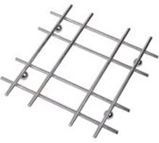 Moderne RVS Pan Onderzetter - Chroom Look Set  - 19x19 cm | RVS | Chroom | Pannen ||Keuken  Onderzetters Valentinaa