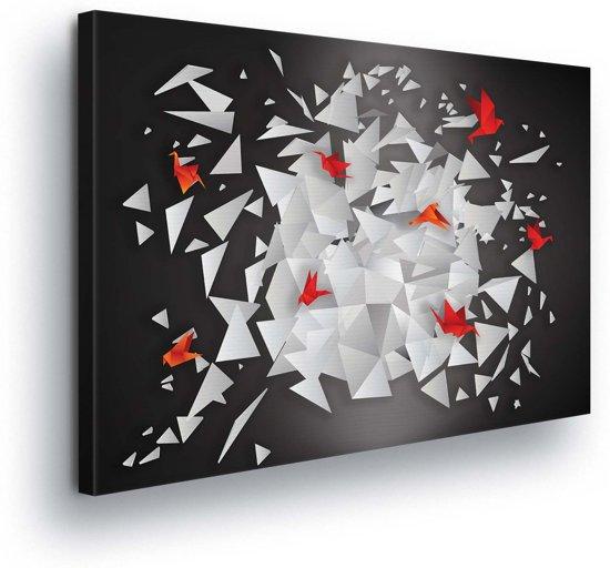 Modern Origami Art Canvas Print 100cm x 75cm