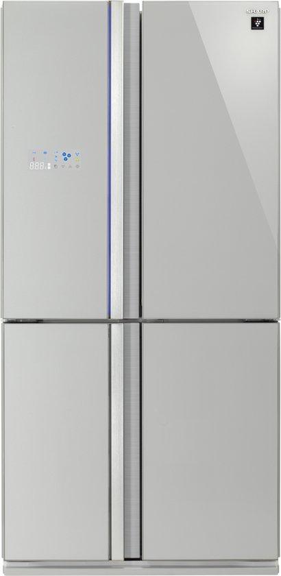 Sharp SJ-FS820VSL - Amerikaanse koelkast - Zilver