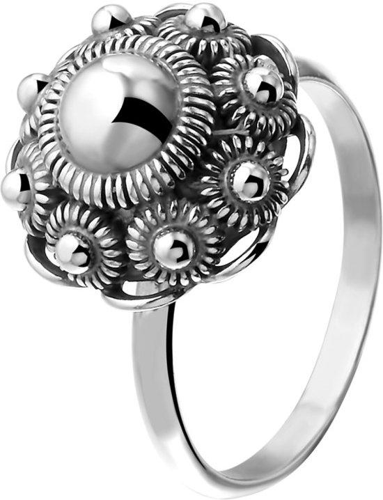 Lucardi - Zilveren ring met Zeeuwse knoop 14mm