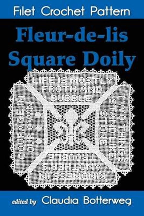Bol Com Fleur De Lis Square Doily Filet Crochet Pattern Claudia