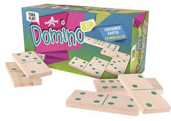 XL domino spel met grote dominostenen