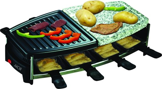 Bolcom 3 In 1 Raclette Grill Steengrill 8 Personen
