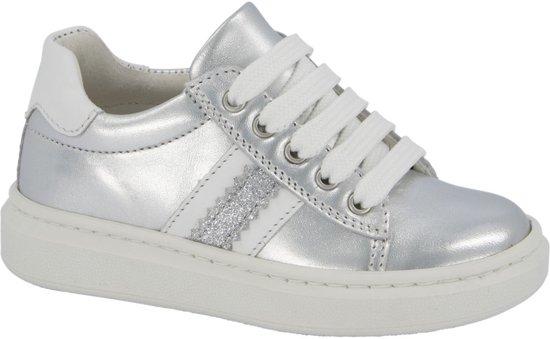 Cupcake Couture Kinderen Zilveren leren sneaker metallic - Maat 29