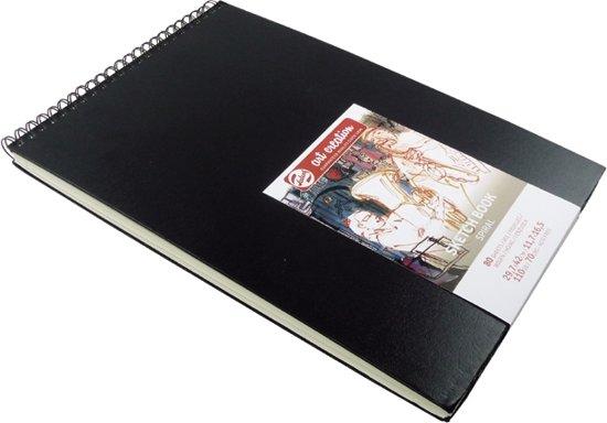 Talens Art Creation schetsboek - zwart - A3 - ringband - wit papier