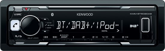 Kenwood KMM-BT502DAB - Autoradio Enkel DIN - DAB+ - USB - Bluetooth