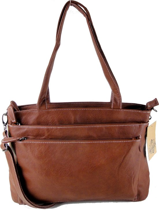 Beagles Omhang Schoudertas Cross-Body Tas Cognac Bruin Trendy Handig