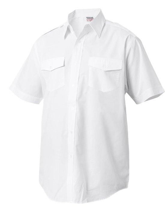 Overhemd Wit Korte Mouw.Bol Com Piloten Overhemd Korte Mouw 2xl Wit Texas Bull Speelgoed