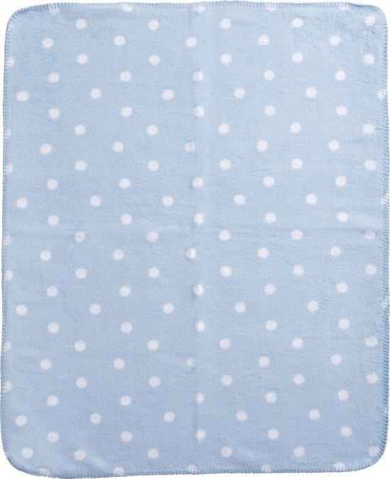 Meyco Classic Stip - Ledikantdeken 100x150 cm - Blauw/Wit