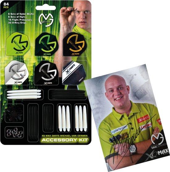 MvG - Accessoires pack 84 pieces MET GESIGNEERDE FOTO van - Michael van Gerwen - dart accessoires