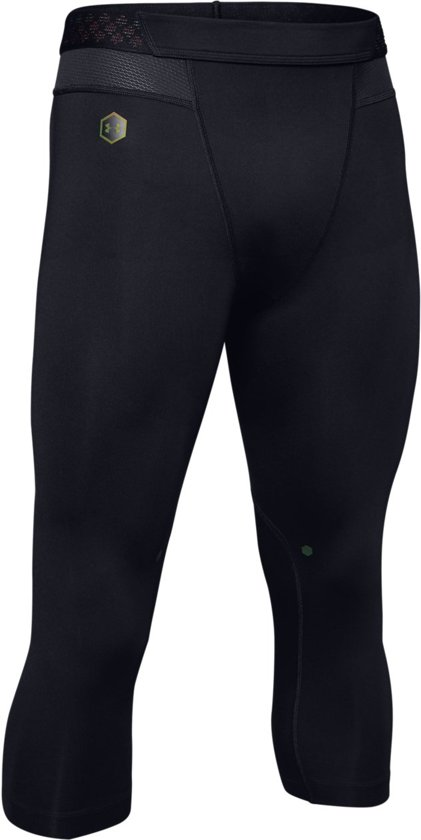 Under Armour Rush 3/4 Sportlegging Heren - Zwart - Maat M