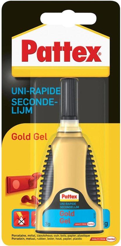 Pattex Gold Gel Secondelijm - GEL = NIET DRUIPEN - 3 Gram  Transparant