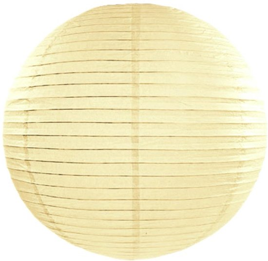 Decoratieve lampion crème 35 cm