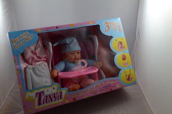 Baby Born Schommel.Bol Com Baby Pop Tanya 3 In 1 Deluxe Gift Set Met Eetstoel
