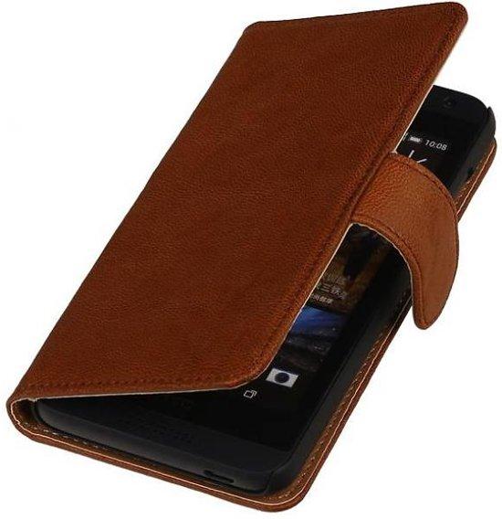 Mobieletelefoonhoesje.nl - Sony Xperia Z3 Compact Hoesje Washed Leer Bookstyle Bruin in Thoricourt