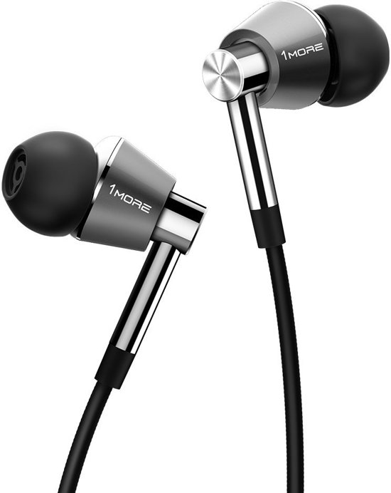 1More Triple Driver In-Ear Headphones (Silver)