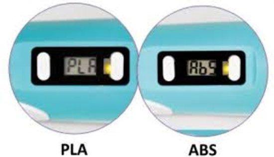 MyRiwell 3D pen met lcd scherm voor ABS en PLA 1.75mm filament - BLAUW