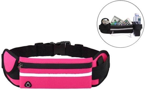 Heuptasje sport – running belt – hardlooptas - verstelbare buideltas - roze