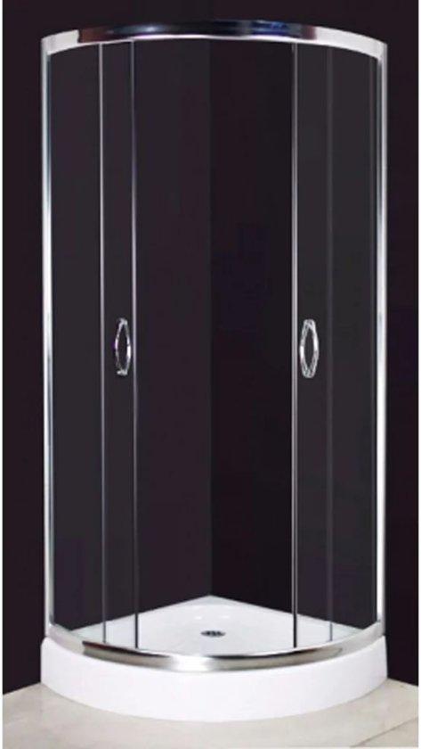vidaXL - Douchecabine afgeronde voorkant 80x80cm 140014