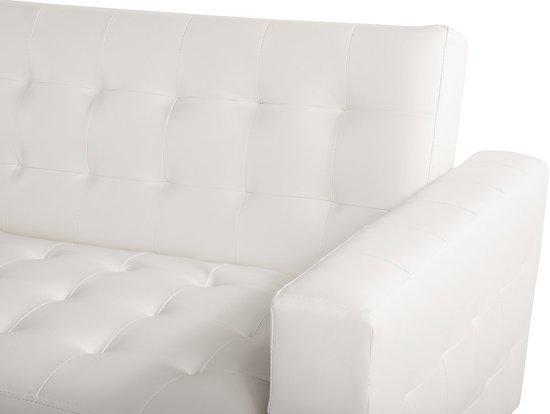 Bank creme - sofa - hoekbank - slaapbank - leren bank - ABERDEEN