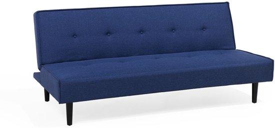 Beliani Visby 3-Zits bank Blauw polyester