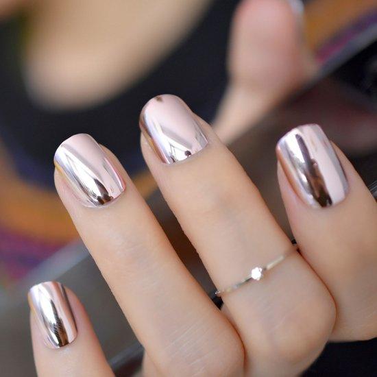 20x Mooie Nepnagels Fake Nails Rond Roze