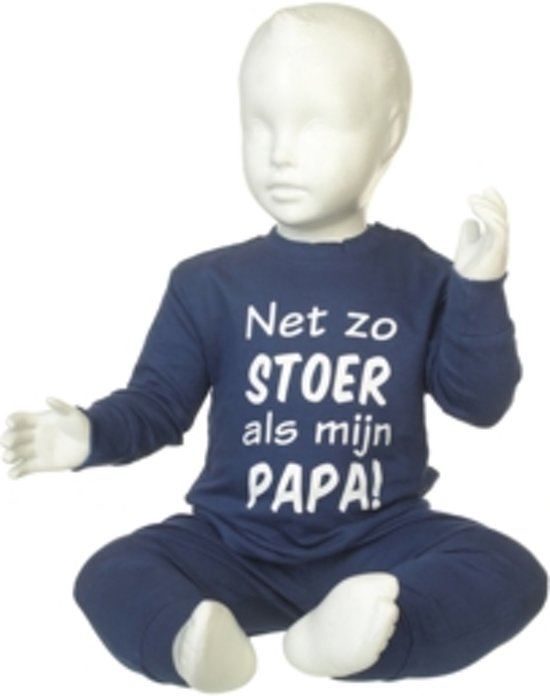 Fun2Wear Pyjama net zo Stoer als papa Navy mt.62