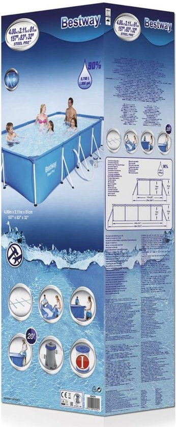 Bestway Steel Pro zwembad stalen frame 400x211x81 cm 56424