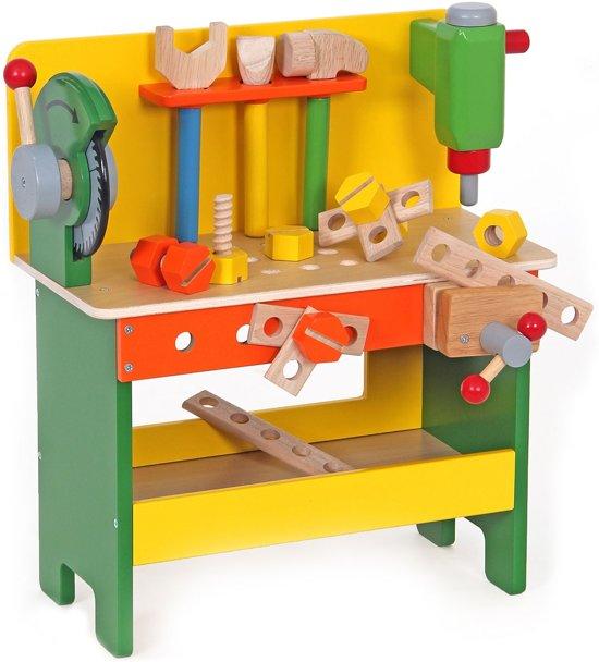 houten werkbank met cirkelzaag mentari mentari speelgoed. Black Bedroom Furniture Sets. Home Design Ideas