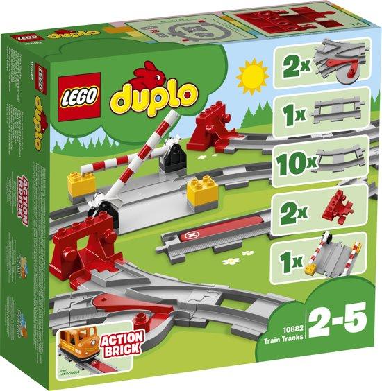 Afbeelding van LEGO DUPLO Treinrails - 10882 speelgoed