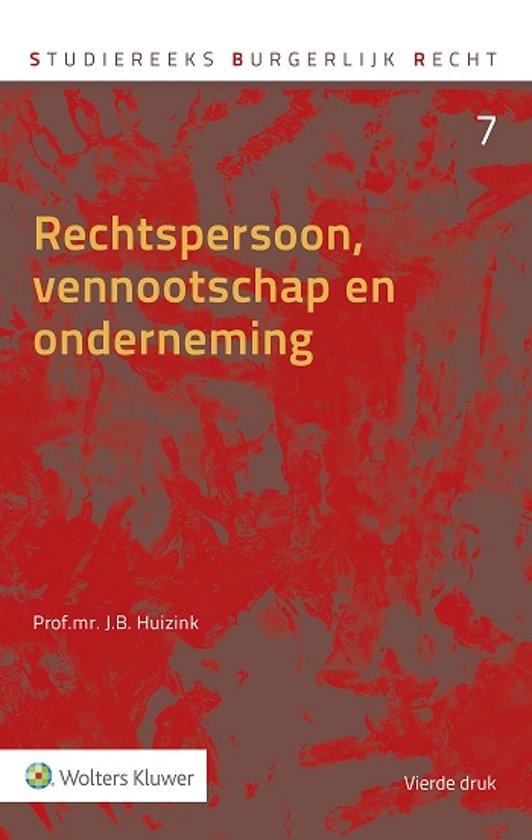 Rechtspersoon, vennootschap en onderneming - J.B. Huizink