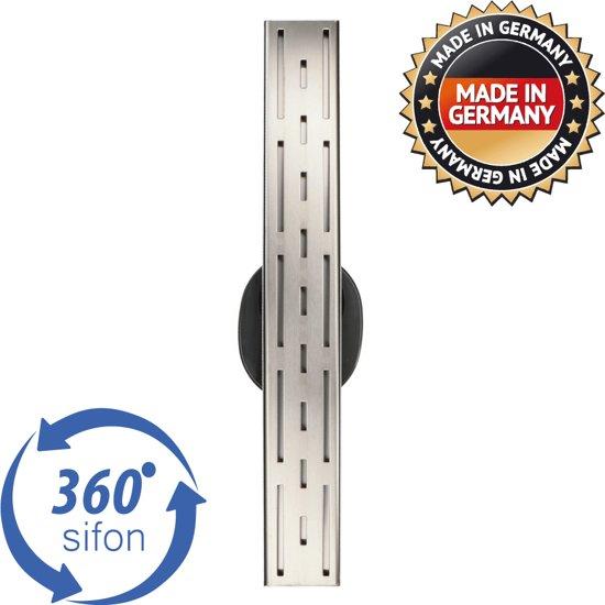 Kwaliteit RVS Gaatjesrooster 80cm   Draaibaar Zelfreinigend Sifon - Lage Inbouw