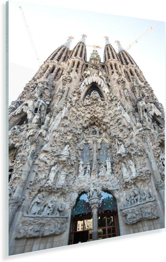 Achterkant Sagrada Familia Barcelona Plexiglas 40x60 cm - Foto print op Glas (Plexiglas wanddecoratie)