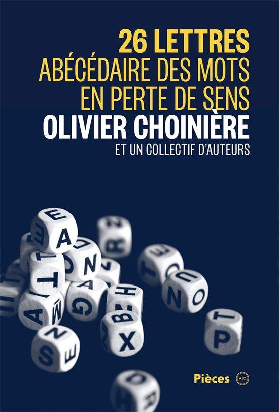 Boek cover 26 lettres van Olivier Choiniere (Onbekend)