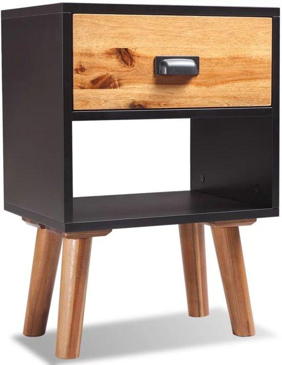 Vidaxl femke nachtkastje wit hout set van 2 kopen - Wit hout nachtkastje ...