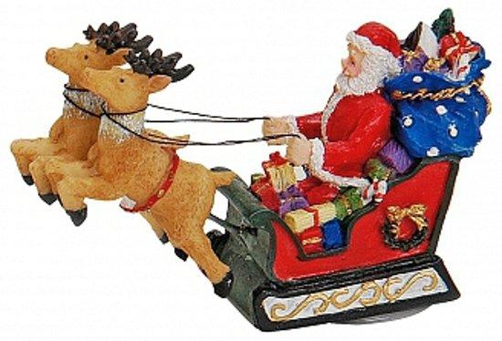 Kerstman decoratie beeldje 8 cm Valentinaa