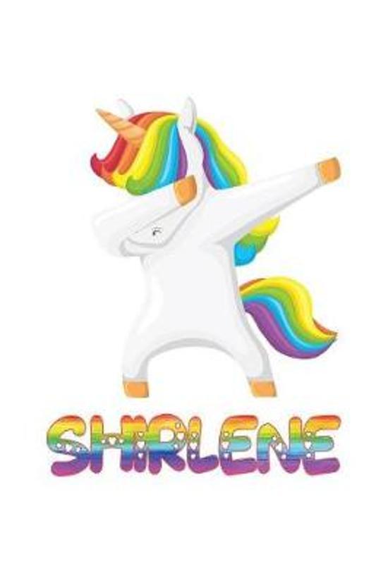 Shirlene: Shirlene 6x9 Journal Notebook Dabbing Unicorn Rainbow
