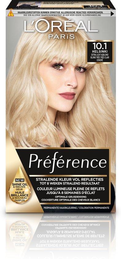L'Oréal Paris Préférence Haarverf - 10.1 Extra Licht Asblond - Color extender