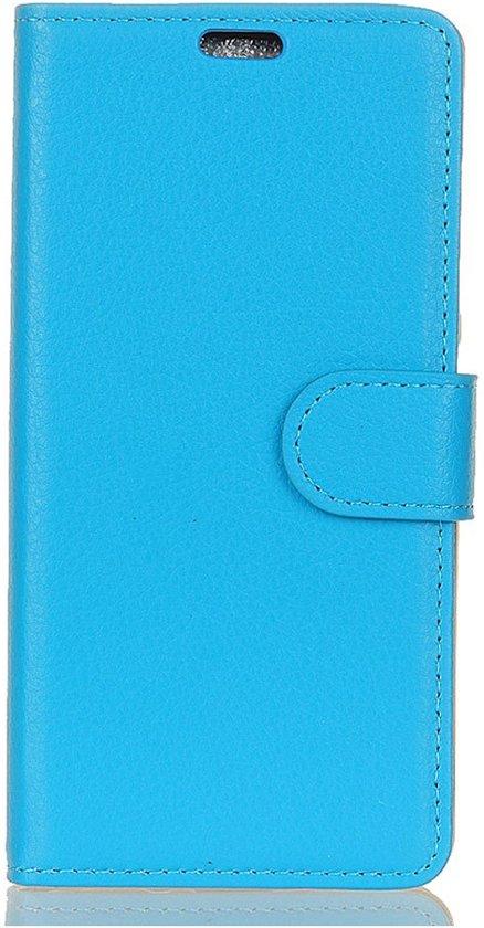Shop4 - Sony Xperia XA2 Hoesje - Wallet Case Lychee Blauw