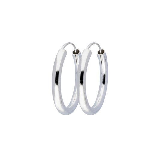 Classics&More - Zilveren oorringen ronde buis