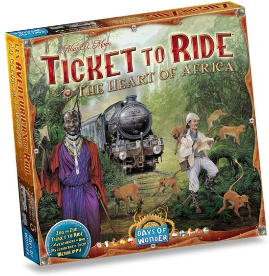 Spel - Ticket to Ride USA met uitbreiding Map Collection - Africa / Afrika - Combi Deal