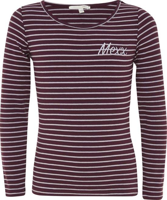 Mexx Meisjes T-shirt - Donker rood - Maat 122/128