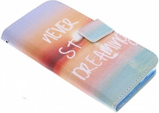 Jamais Arrêter De Rêver Cas Flip Tpu Design Pour Samsung Galaxy S6 WCDSZg7