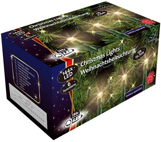 Christmas gifts LED-Kerstverlichting (144 LED's) met 6 funkties