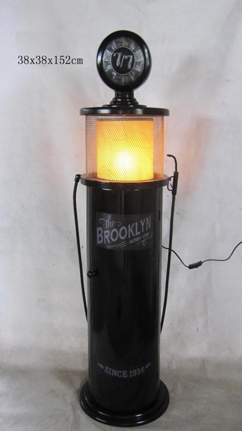 bol.com | Gaspomp benzinepomp retro vintage opbergkast Brooklyn met ...
