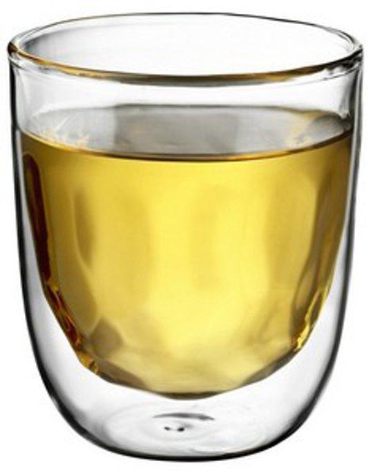 QDO Elements - Koffie- en theeglazen - Set van 2 Dubbelwandige Glazen - Metal - 75ml